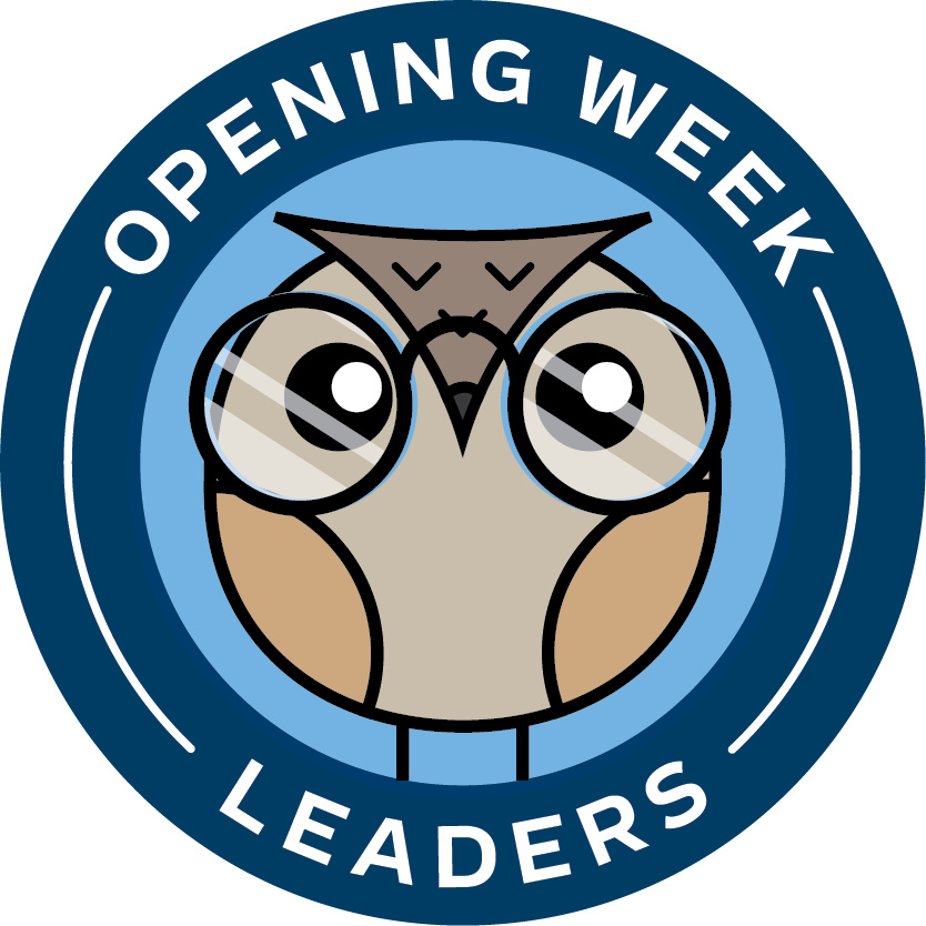 Owl graphic; text