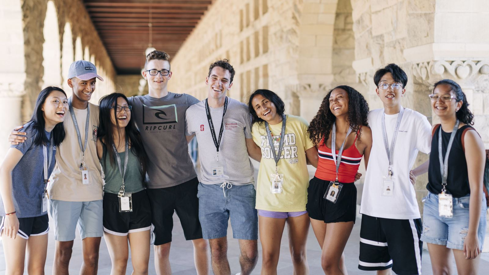 Stanford Pre-Collegiate Studies students on campus