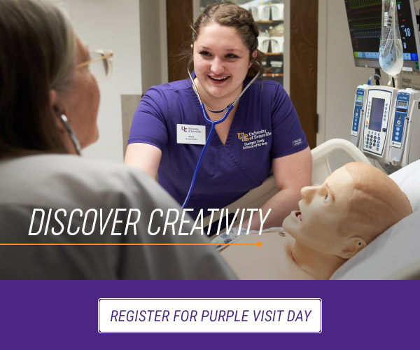 Register for Purple Visit Day - Discover creativity.