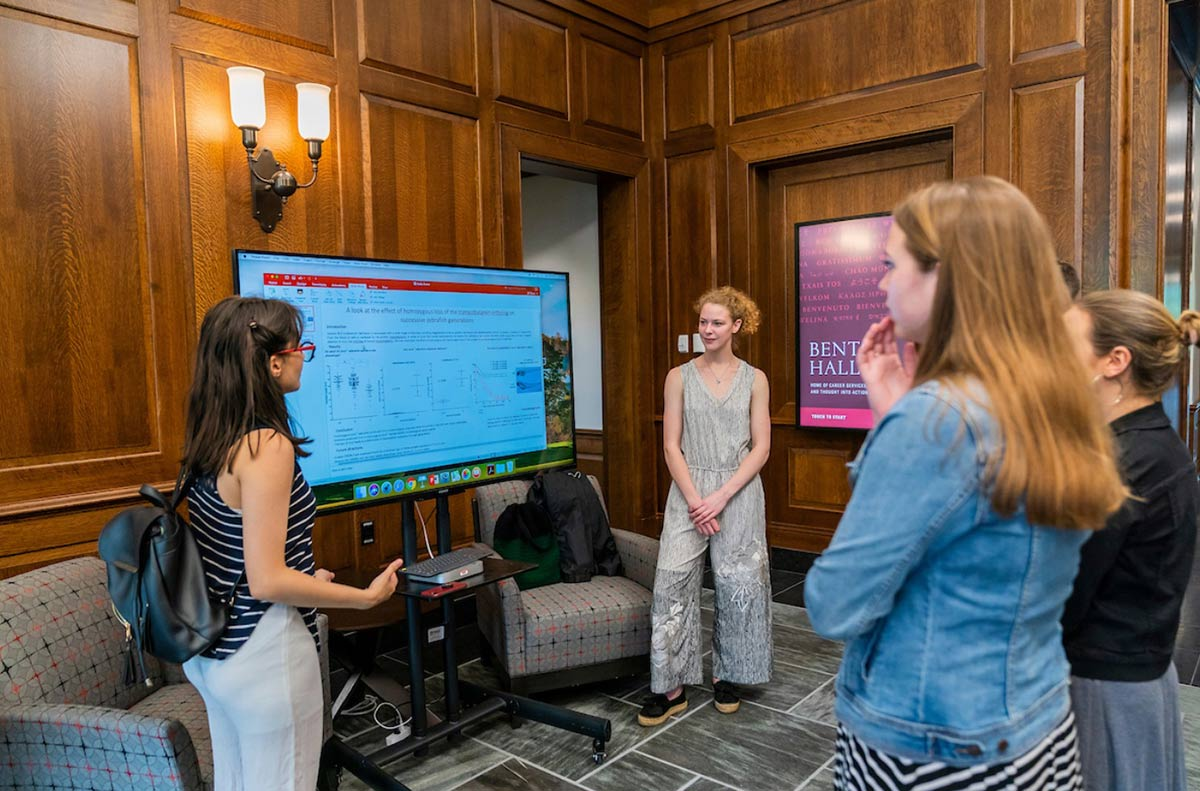 Students present original research