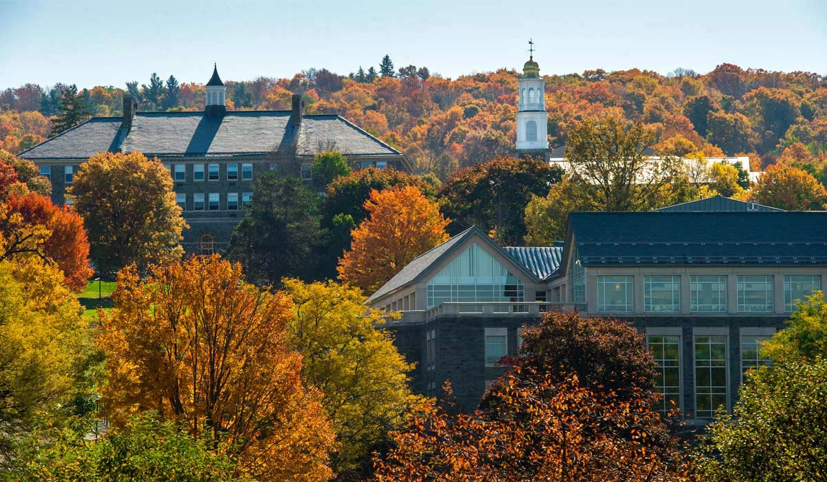 Colgate University in the fall