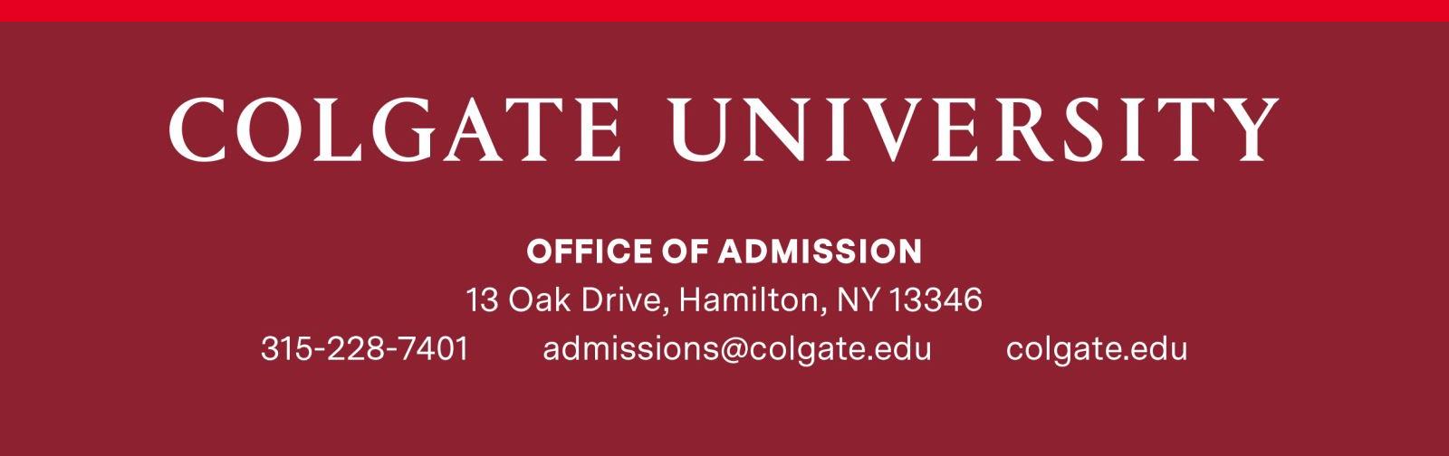 Colgate University Admission Footer