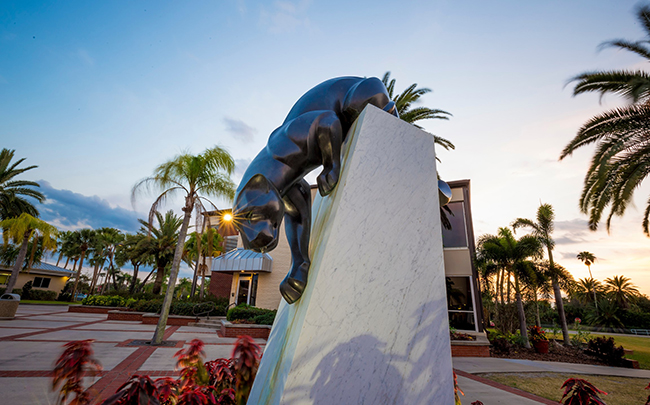 Florida Tech Panther Statue