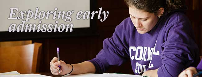 Exploring early admission