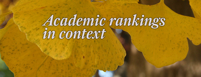 Academic rankings in context